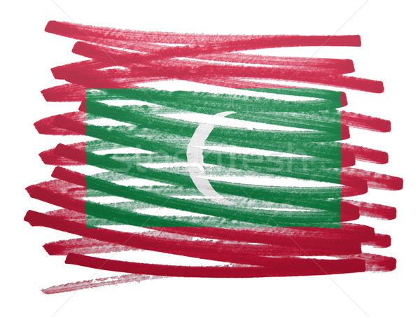 Flag illustration - Maldives Stock photo © michaklootwijk