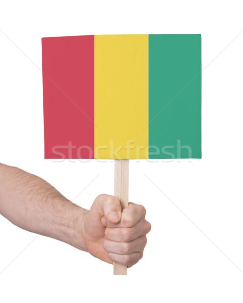 El küçük kart bayrak Gine Stok fotoğraf © michaklootwijk