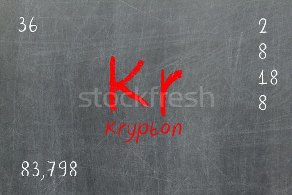 孤立した 黒板 周期表 デザイン 教育 表 ストックフォト © michaklootwijk