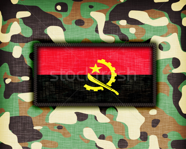 равномерный Ангола флаг текстуры аннотация Сток-фото © michaklootwijk