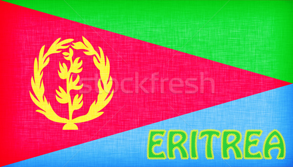 Flag of Eritrea stitched with letters Stock photo © michaklootwijk