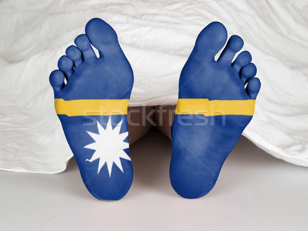 Voeten vlag slapen dood Nauru vrouw Stockfoto © michaklootwijk