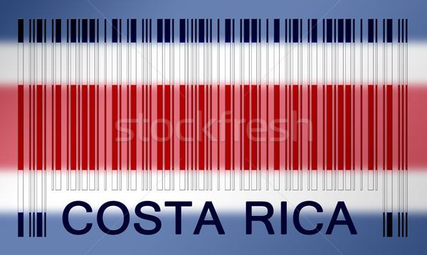 Barcode vlag Costa Rica geschilderd oppervlak ontwerp Stockfoto © michaklootwijk