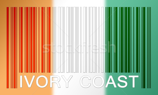Vonalkód zászló Elefántcsontpart festett felület terv Stock fotó © michaklootwijk