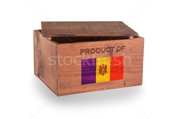 Stock fotó: Fából · készült · láda · izolált · fehér · termék · Moldova