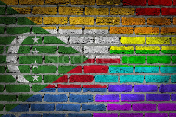 Dark brick wall - LGBT rights - Comoros Stock photo © michaklootwijk
