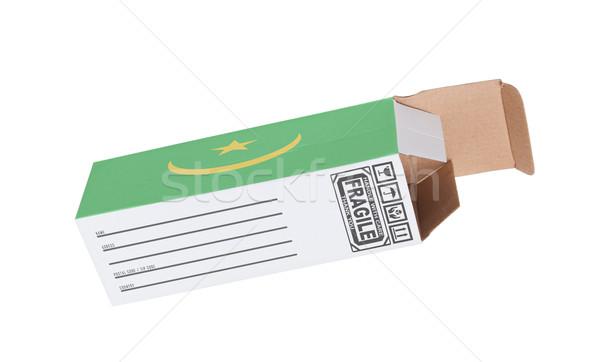 Exportar produto Mauritânia papel caixa Foto stock © michaklootwijk