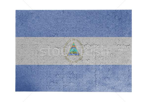 Nagy kirakós játék 1000 darabok Nicaragua zászló Stock fotó © michaklootwijk