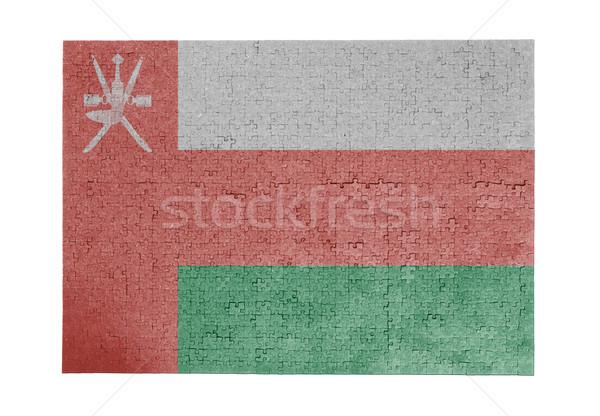 Büyük 1000 parçalar Umman bayrak Stok fotoğraf © michaklootwijk