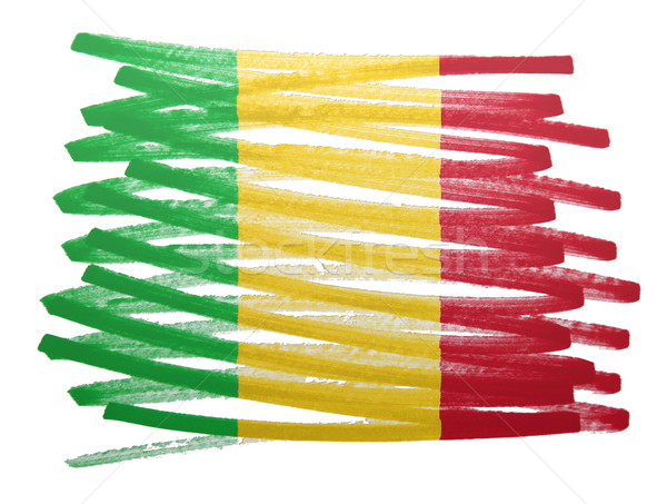 Flag illustration - Mali Stock photo © michaklootwijk