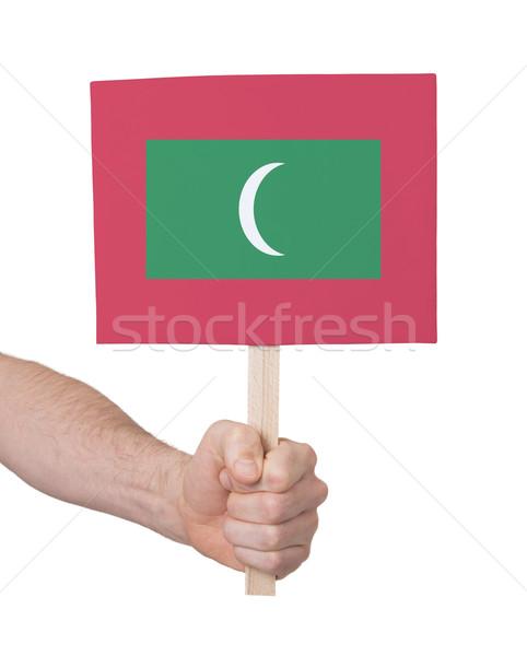 Mano piccolo carta bandiera Maldive Foto d'archivio © michaklootwijk