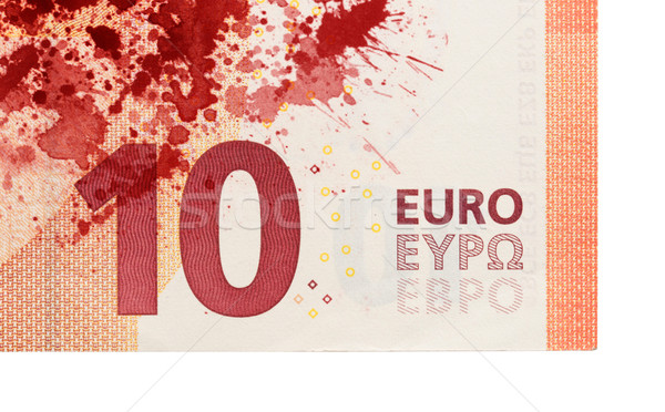 Stock photo: New ten euro banknote, close-up