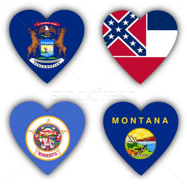 флагами форма сердце различный Мир знак Сток-фото © michaklootwijk
