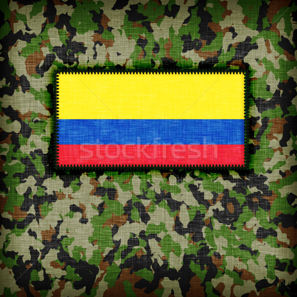 Camouflage uniform Colombia vlag textuur abstract Stockfoto © michaklootwijk