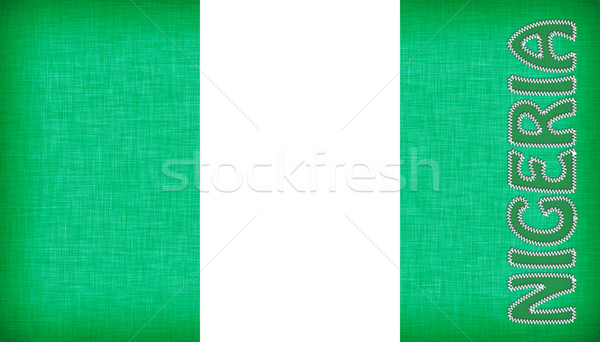 Bayrak Nijerya harfler yalıtılmış doku yeşil Stok fotoğraf © michaklootwijk
