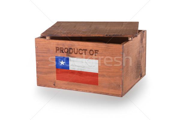 Skrzynia odizolowany biały produktu Chile Zdjęcia stock © michaklootwijk
