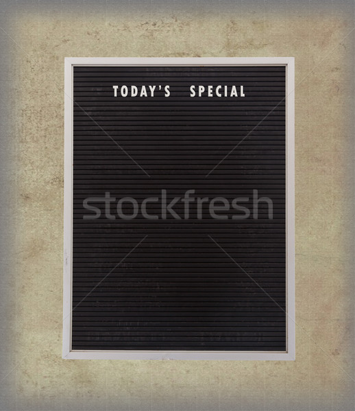 Empty restaurant board stand (people stopper) with today's speci Stock photo © michaklootwijk