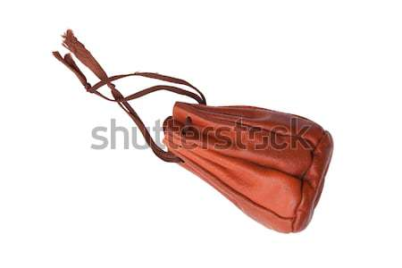 Old brown leather pouch  Stock photo © michaklootwijk
