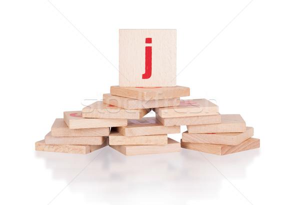 Alphabet - letter J Stock photo © michaklootwijk