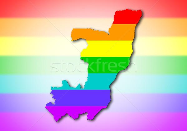 Congo arco iris bandera patrón mapa viaje Foto stock © michaklootwijk