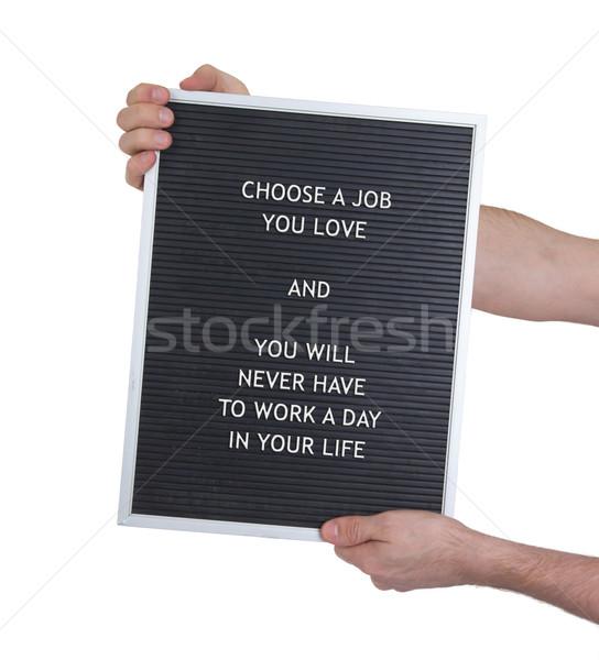 ライフスタイル プラスチック 文字 古い メニュー ボード ストックフォト © michaklootwijk