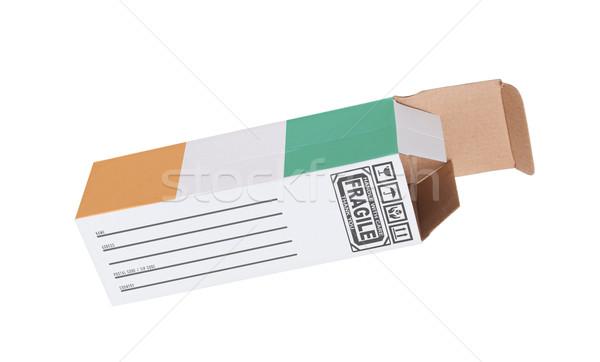 экспорт продукт Берег Слоновой Кости бумаги окна Сток-фото © michaklootwijk