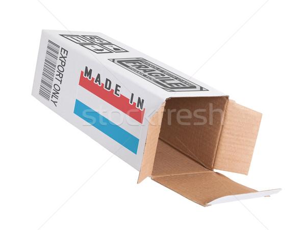 Exportar producto Luxemburgo papel cuadro Foto stock © michaklootwijk