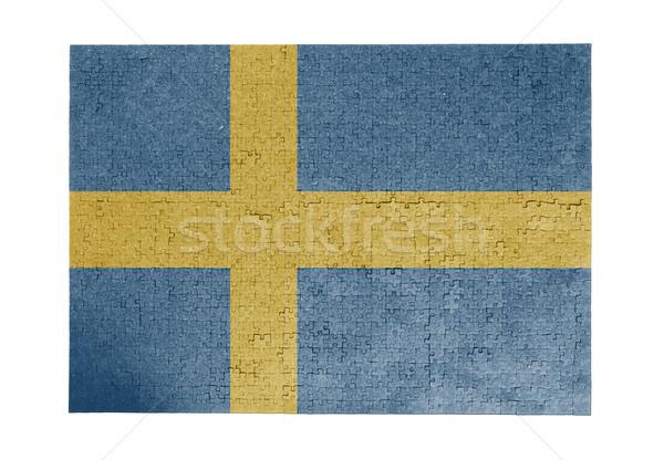 большой 1000 частей Швеция флаг Сток-фото © michaklootwijk