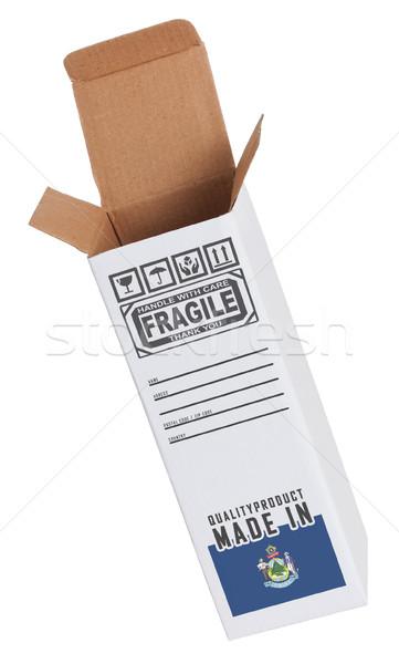 Exportar producto Maine papel cuadro Foto stock © michaklootwijk