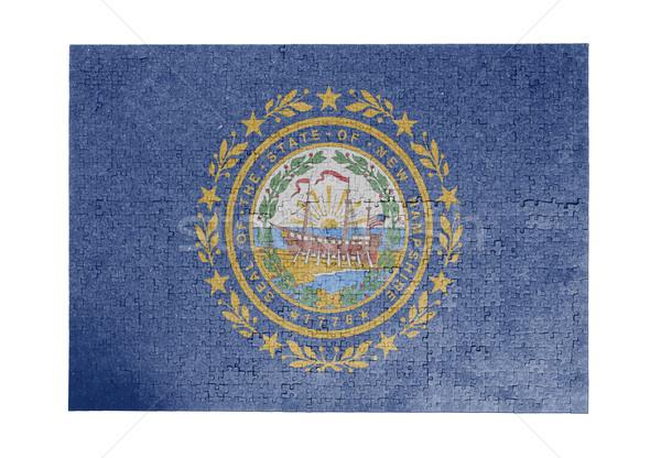 Groot 1000 stukken New Hampshire vlag Stockfoto © michaklootwijk