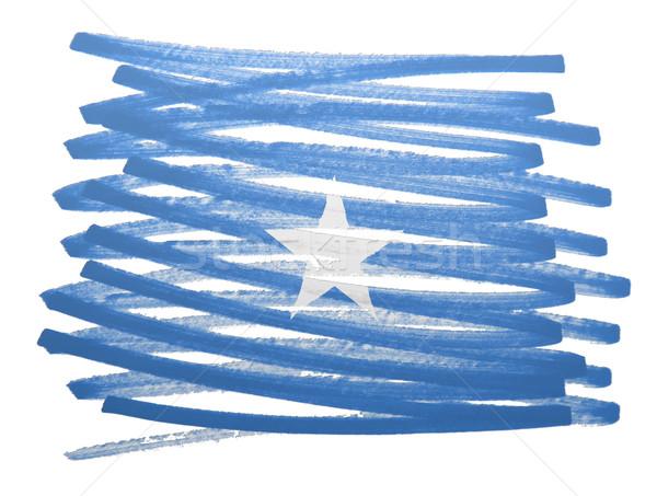 флаг иллюстрация Сомали пер бизнеса краской Сток-фото © michaklootwijk