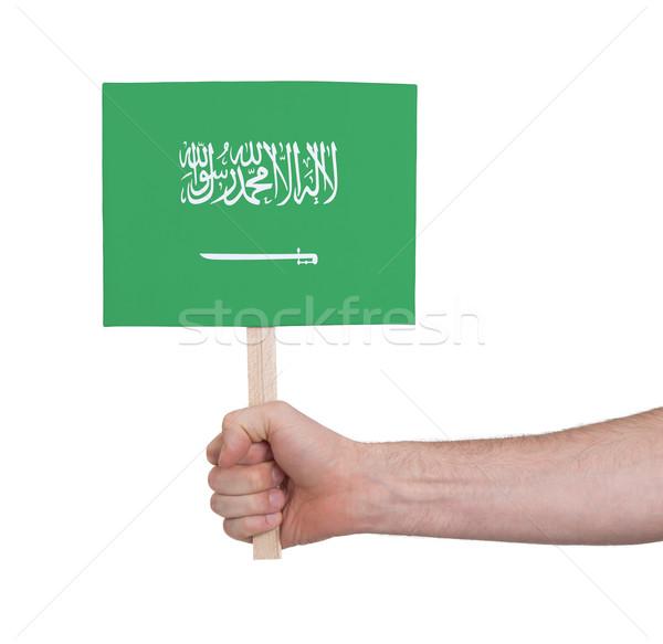 Mão pequeno cartão bandeira Arábia Saudita Foto stock © michaklootwijk