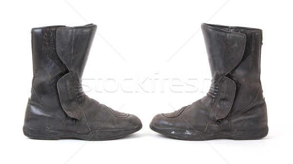 Old motorcycle boots Stock photo © michaklootwijk