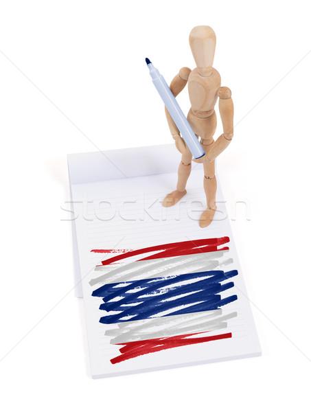 Manequim desenho Tailândia bandeira papel Foto stock © michaklootwijk