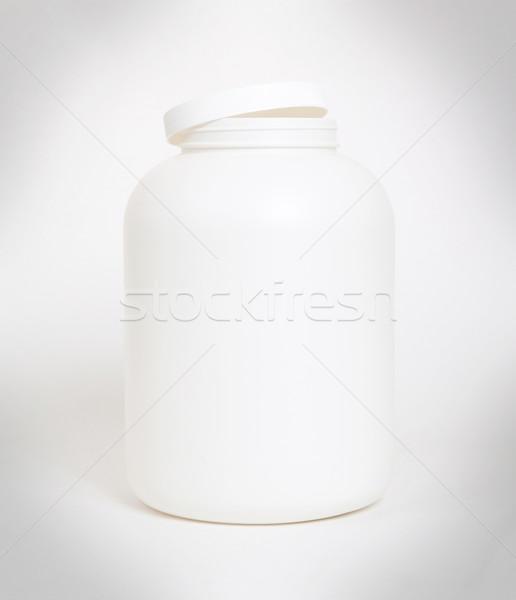 Vacío proteína polvo contenedor aislado blanco Foto stock © michaklootwijk