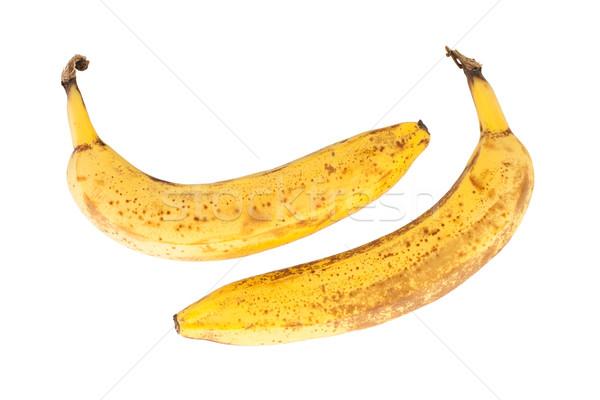 Köteg érett banán izolált fehér étel Stock fotó © michaklootwijk