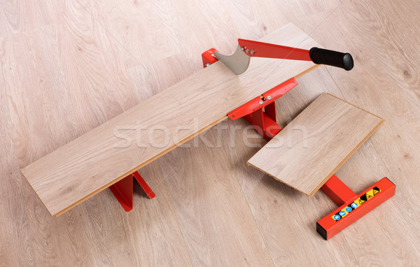 Red tool for cutting laminate Stock photo © michaklootwijk