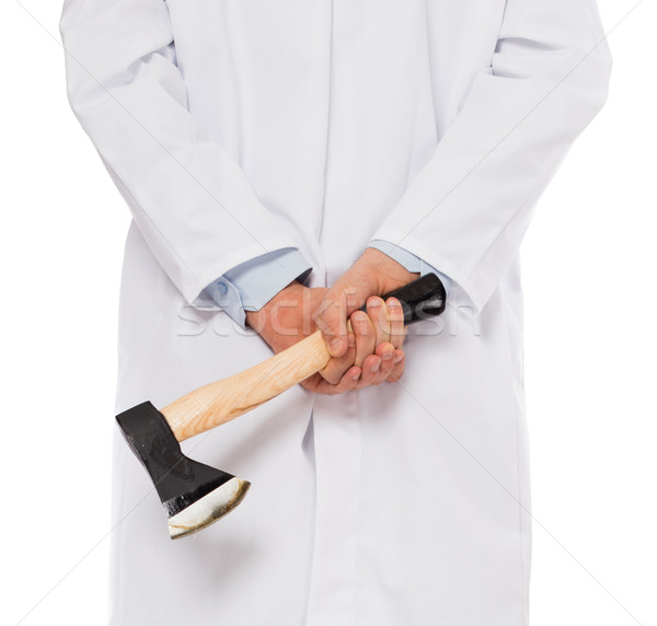 Evil medic holding a small axe Stock photo © michaklootwijk