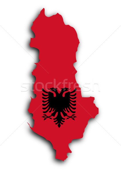 Country shape outlined and filled with the flag Stock photo © michaklootwijk