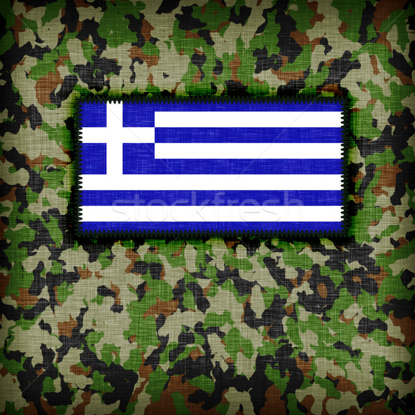 Tarnung einheitliche Griechenland Flagge Textur abstrakten Stock foto © michaklootwijk