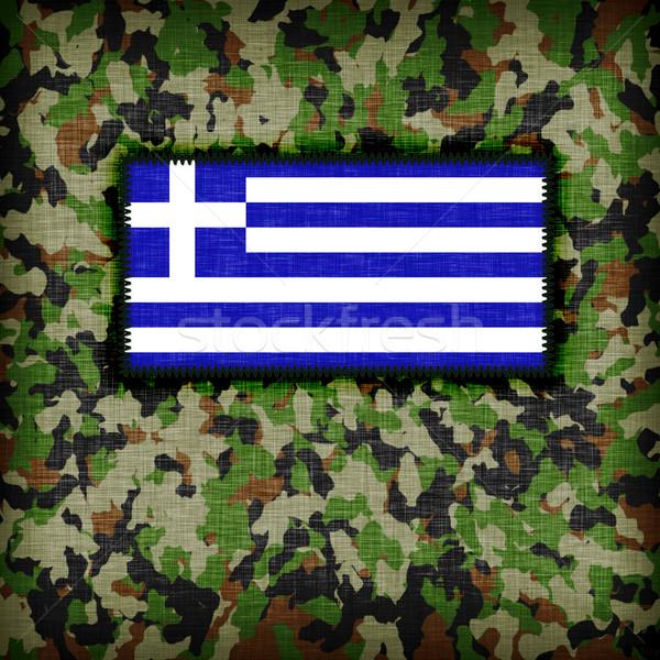 Uniforme Grecia bandiera texture abstract Foto d'archivio © michaklootwijk