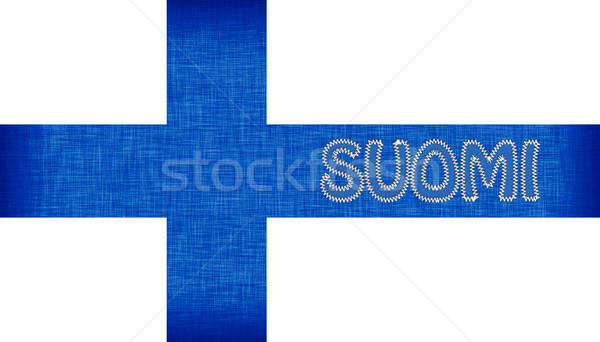 Flag of Finland stitched with letters Stock photo © michaklootwijk