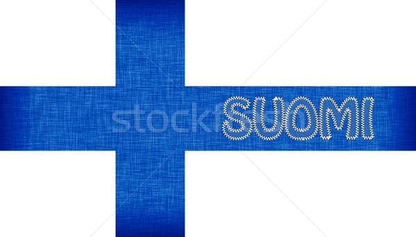 флаг Финляндия письма изолированный текстуры фон Сток-фото © michaklootwijk