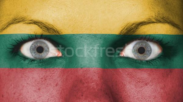 Yeux pavillon peint visage Lituanie Photo stock © michaklootwijk