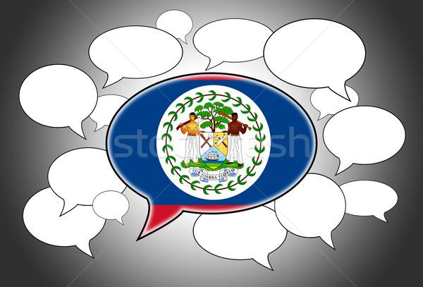 Stockfoto: Vlag · Belize · abstract · ruimte · witte