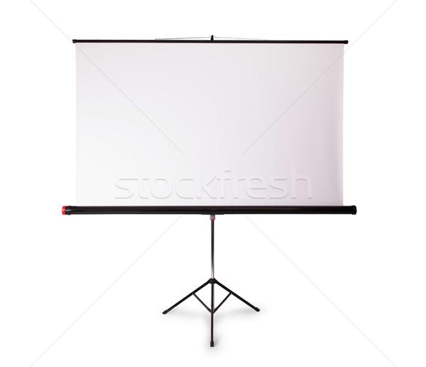 Proyección Screen espacio de la copia aislado blanco marco Foto stock © michaklootwijk