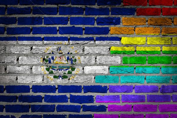 Dark brick wall - LGBT rights - El Salvador Stock photo © michaklootwijk