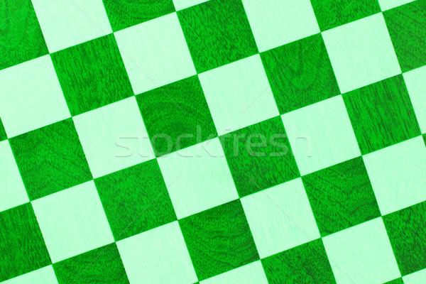 Edad tablero de ajedrez aislado primer plano verde Foto stock © michaklootwijk