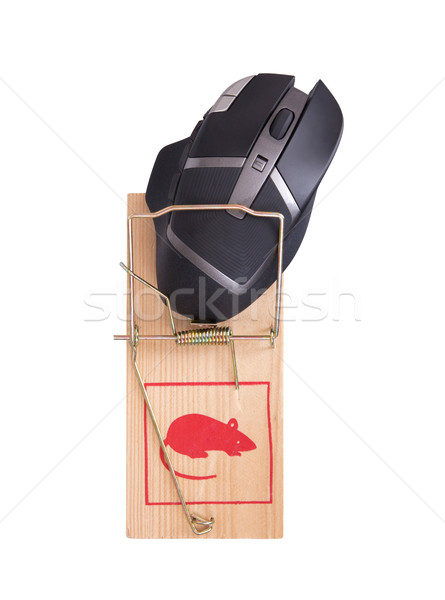Modern computer mouse in a mousetrap Stock photo © michaklootwijk