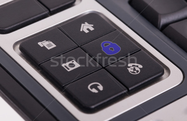 Buttons on a keyboard - Lock Stock photo © michaklootwijk